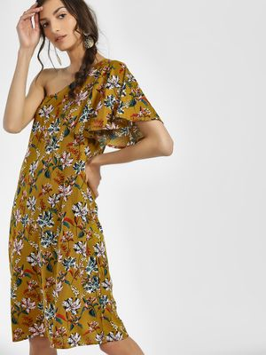 Rena Love Floral Print One Shoulder Dress