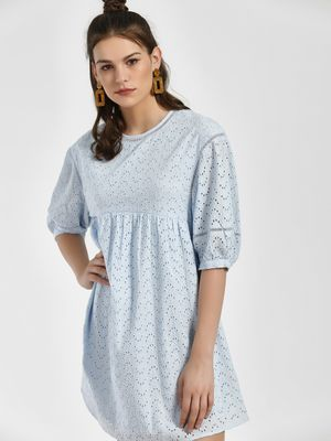 Rena Love Broderie Mini Shift Dress