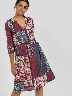 Rena Love Mixed Floral Print Shift Dress