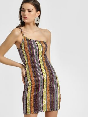KOOVS Animal Baroque Stripe Bodycon Dress