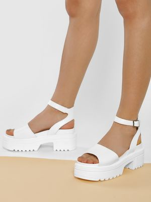 Truffle Collection Chunky Sole Heeled Sandals