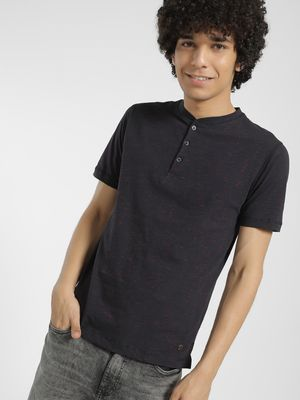 Buffalo Henley Neck Slub T-Shirt