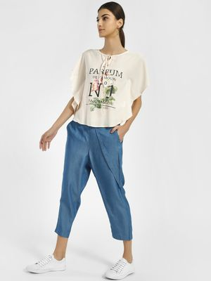 PostFold High Waist Cropped Trousers