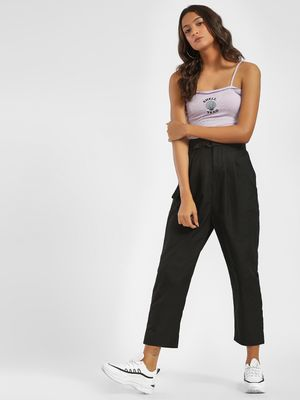 Bhaane Belted Peg-Leg Trousers