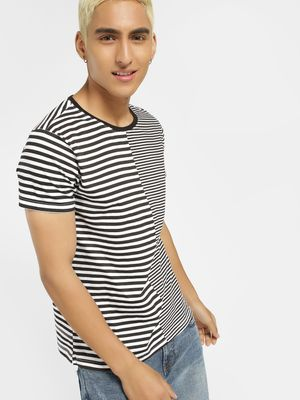 Blue Saint Clashing Stripes T-Shirt
