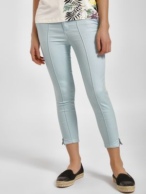 LC Waikiki Zippered Hem Cropped Skinny Trousers