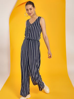 LC Waikiki Vertical Stripe Sleeveless Jumpsuit