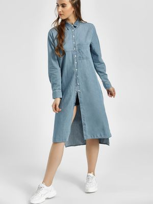 LC Waikiki Light Wash Denim Tunic Dress