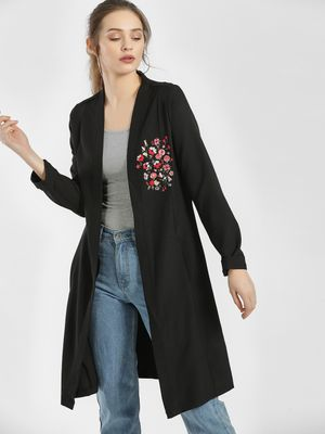 LC Waikiki Floral Embroidered Longline Shrug