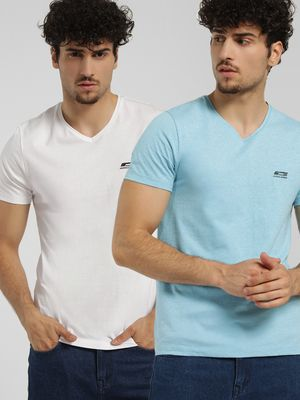 Jack & Jones V-Neck Slim T-Shirt (Pack Of 2)