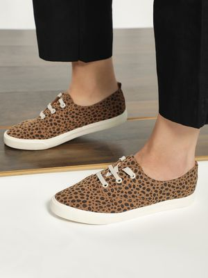 My Foot Couture Suede Abstract Dot Print Sneakers