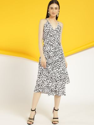 Closet Drama Leopard Print Wrap Midi Dress