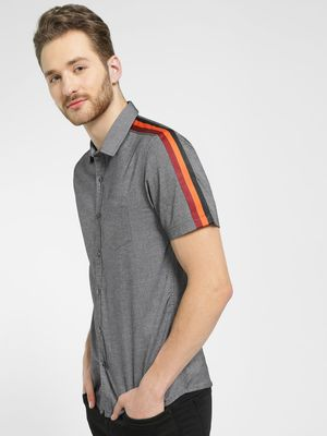 KOOVS Contrast Side Stripe Shirt