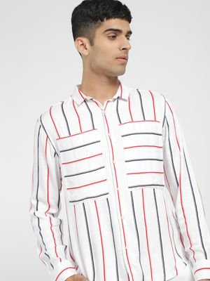 KOOVS Multi Stripe Long Sleeve Shirt