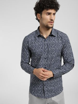 KOOVS Mini Floral Print Smart Shirt