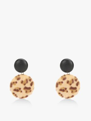 VOODOO VIXEN Leopard Print Earrings