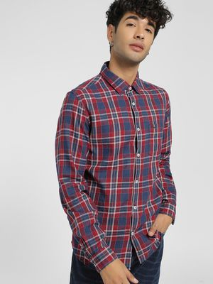 Lee Cooper Multi Check Casual Shirt