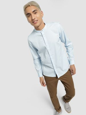 Lee Cooper Basic Grandad Collar Shirt