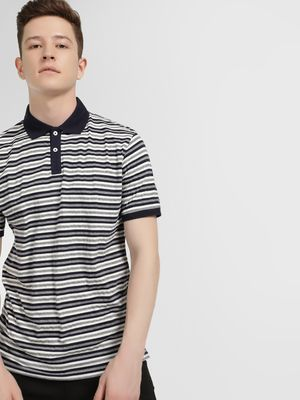 Lee Cooper Woven Striped Polo Shirt