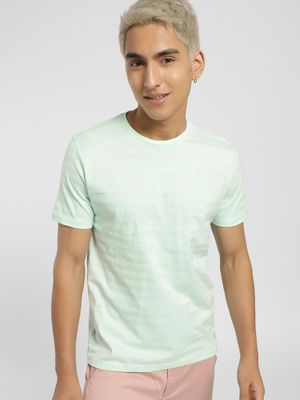 Lee Cooper Text Embossed Crew Neck T-Shirt