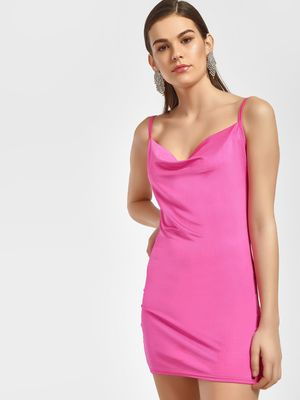 Lasula Cowl Neck Strappy Bodycon Dress