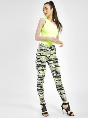 Miss Toxic Camo Print Cropped Jeggings