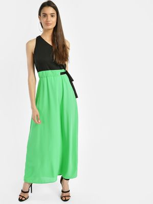Oliv One Shoulder Colour Block Maxi Dress