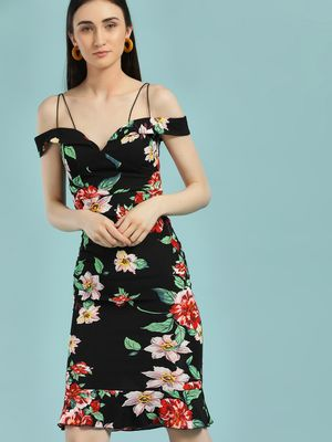 Ax Paris Tropical Floral Print Bodycon Dress