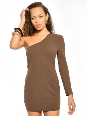 Lasula One Shoulder Bodycon Dress