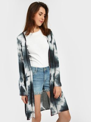 Blue Saint Tie & Dye Print Shrug