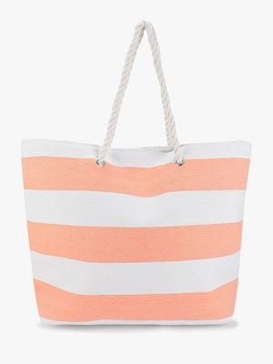 South Beach Vertical Stripe Tote Bag