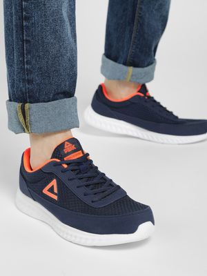 Peak Mesh Suede Panel Running Shoes
