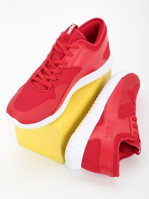 Peak Knitted Panelled Running Shoes