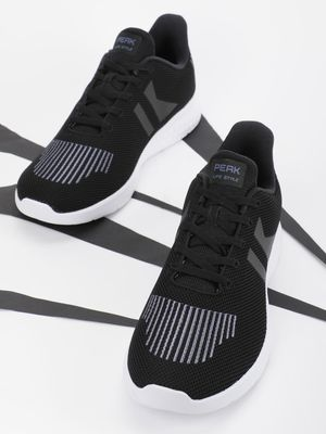 Peak Panelled Stripe Running Shoes