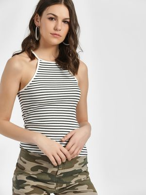 Only Ribbed Racerback Cami Top