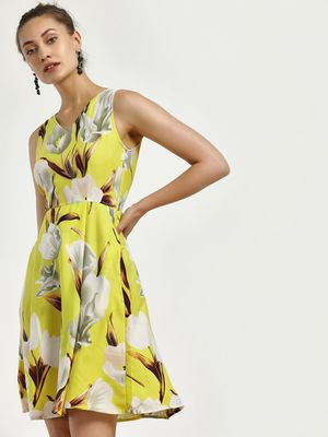 Magzayra Tulips Print Skater Dress