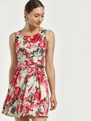 Magzayra Floral Print Skater Dress