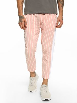 KOOVS Vertical Stripe Side Tape Joggers