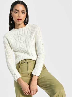Akiva Cable Knit Structure Pullover