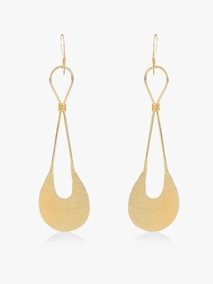 Zero Kaata Crescent Moon Long Earrings