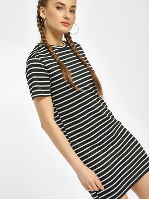New Look Horizontal Stripe T-Shirt Dress