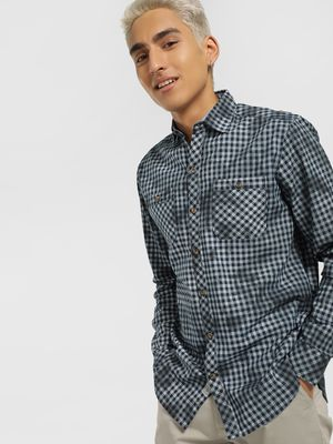 Disrupt Gingham Check Spray Print Shirt