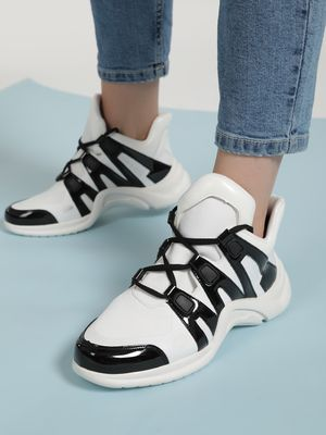 Sole Story Colour Block Panel Chunky Trainers