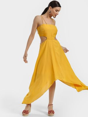 KOOVS Handkerchief Hem Maxi Dress