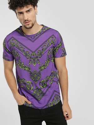 KOOVS Baroque Chevron Sublimation T-Shirt