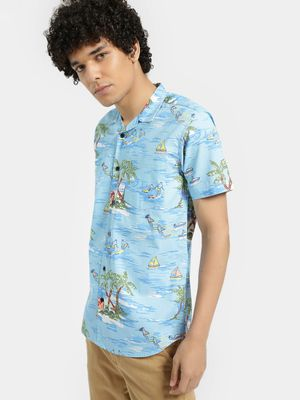 AMON Tropical Island Print Shirt