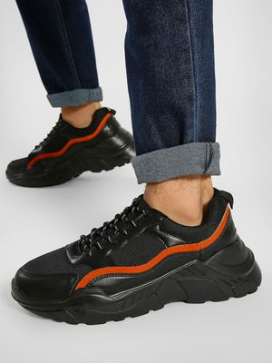 KOOVS Suede Panel Cleated Sole Trainers