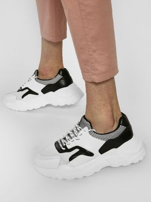 KOOVS Upper Panel Cleated Sole Trainers