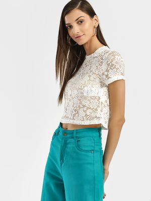 Only Lace Crop Top