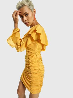 KOOVS One-Shoulder Ruched Bodycon Dress